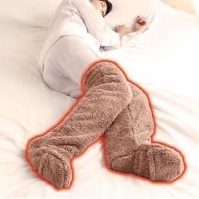 【レディース】 極暖 足が出せるロングカバー(1足) - セシール ■カラー:ブラウン