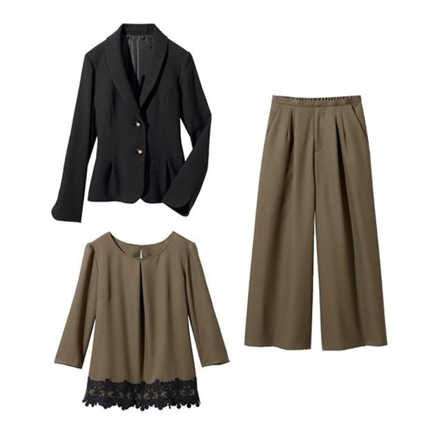 3点セット(ジャケット+ブラウス+パンツ)(プライベートレーベル) セレモニースーツ(式服・受験・七五三・発表会),women suits