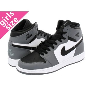 NIKE AIR JORDAN 1 RETRO HIGH BG ナイキ エア ジョーダン 1 レトロ ハイ BG COOL GREY/BLACK/WHITE