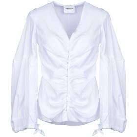 《セール開催中》ANNARITA N レディース シャツ ホワイト 40 コットン 72% / ナイロン 25% / ポリウレタン 3%