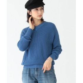 Demi-Luxe BEAMS / アゼ Vネック プルオーバー レディース ニット・セーター BLUE ONE SIZE