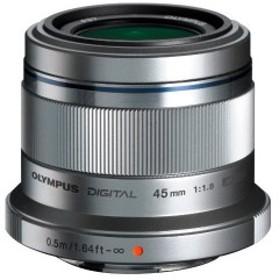 OLYMPUS 単焦点レンズ M.ZUIKO DIGITAL 45mm F1.8 シルバー 中古 良品