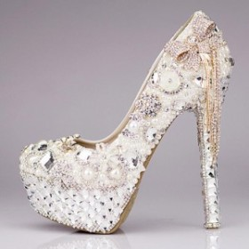 豪華 キラキラ レディースハイヒール 靴 ウェディングシューズ パンプス 美脚 ブライダル シューズ パーティー 痛くない パンプス