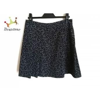 アニエスベー agnes b スカート サイズ36 S レディース 黒×マルチ スペシャル特価 20190516【人気】