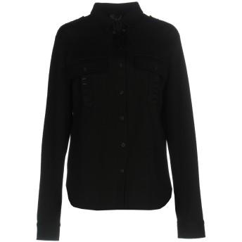 《セール開催中》OBL UNIQUE レディース シャツ ブラック M バージンウール 55% / コットン 40% / ナイロン 5%