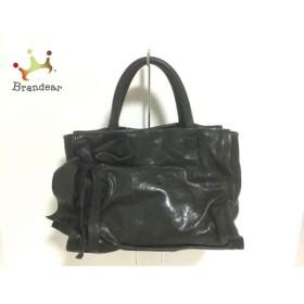 7ded4567579f アンドレアマビアーニ ANDREA MABIANI ハンドバッグ 黒 リボン レザー スペシャル特価 20190506
