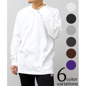 エーエムエス 5.6オンスロングレングスTシャツ/袖リブ/ロンT ユニセックス ホワイト L 【A.M.S.】