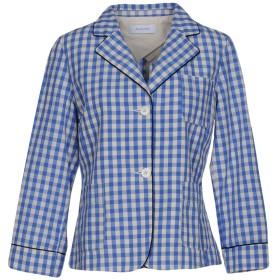 《期間限定 セール開催中》AGLINI レディース テーラードジャケット ブルー 42 コットン 80% / 麻 20%