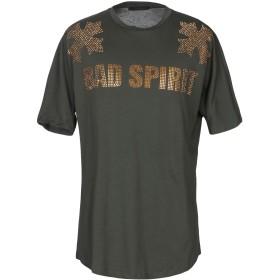 《期間限定セール開催中!》BAD SPIRIT メンズ T シャツ ミリタリーグリーン S コットン 100%