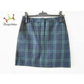 イートミー スカート サイズ3 L レディース 美品 ダークグリーン×黒×ネイビー チェック柄             スペシャル特価 20191029