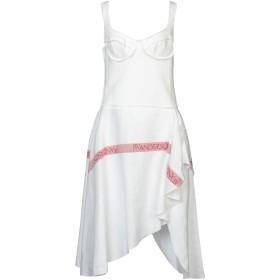 《セール開催中》J.W.ANDERSON レディース ミニワンピース&ドレス ホワイト 8 麻 100% / コットン / ポリウレタン