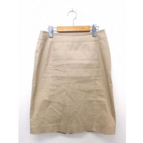 ナチュラルビューティーベーシック NATURAL BEAUTY BASIC スカート ボトムス 台形 膝丈 ジップ 無地 シンプル コットン 綿 M