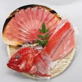 [伊豆下田産]金目鯛しゃぶしゃぶと湯引き(お刺身用サク)セット