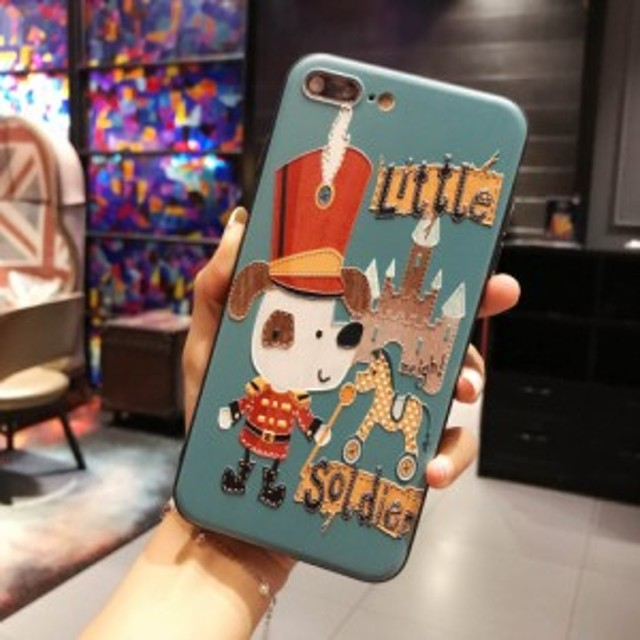 iphoneケース ドッグ 犬 ワンちゃん iphone7・iphone8 スマホケース グリーン