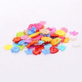 100個混合形状かわいい樹脂ボタン2穴ジュエリー作り所見
