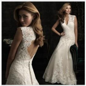優雅 豪華 ウェディングドレス パーティードレス Vネック フェミニン ロングドレス お呼ばれドレス 挙式 結婚式 ファスナー