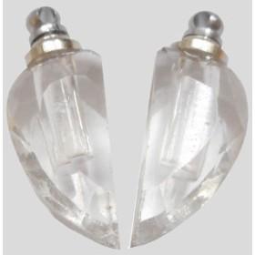 香水 ペンダント ネックレス アロマペンダント ガラス容器 香水瓶 0.1cc ハートペアペンダント ko-w-heart