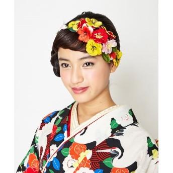 ふりふ ヘアクリップ「桜かんざし」 レディース クリーム F 【FURIFU】