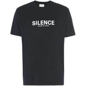 《期間限定セール開催中!》WOOD WOOD メンズ T シャツ ブラック S コットン 100% Perry T-shirt Mens jersey T-shirt