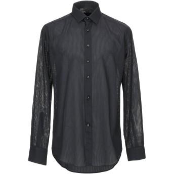 《9/20まで! 限定セール開催中》LANVIN メンズ シャツ ブラック 15 コットン 100%