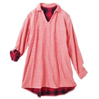 【大きいサイズ】 オトナスマイル モニター人気 綿100%ダブルガーゼゆるシルエットスキッパーシャツ(オトナスマイル)  plus size shirts, テレワーク, 在宅, リモート