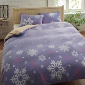 枕カバー(雪柄・フリース生地) L(90×45cm) 8477-110463