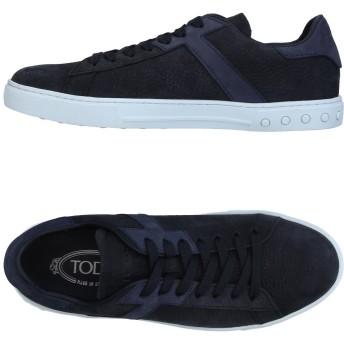 《セール開催中》TOD'S メンズ スニーカー&テニスシューズ(ローカット) ダークブルー 5.5 革