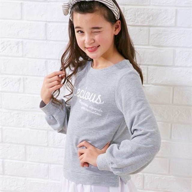 0a40b3f52f8a6 裾シフォンフリル刺しゅうTシャツ(女の子 子供服。ジュニア服) Tシャツ ...