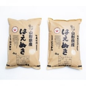 米食味鑑定士厳選 はえぬき(精米)4kg×2