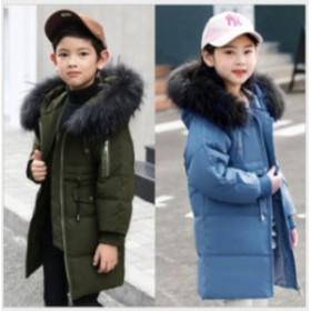 可愛い 子供コート ダウンコート キッズ アウター ロングダウンコート 女の子 男の子 ダウンジャケット 冬着 ダウンコート フード付き