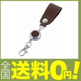 レイメイ藤井 キーホルダー リール付 ベルトループ グロワール 合皮 ブラウン GLK9010C