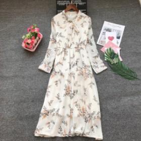 白花柄スカート レディース きれいめガーリー プチプラ定番 人気 通販 シンプル 長袖 リボン かわいい ハイウエスト b580