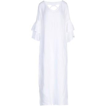 《9/20まで! 限定セール開催中》LFDL レディース ロングワンピース&ドレス ホワイト S 麻 100%