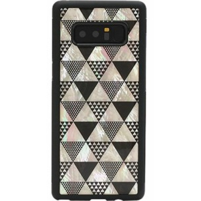 53e0deacff アイキンス Galaxy Note 8 天然貝ケース Pyramid I11539GN8 1コ入 【アイキンス(Ikins