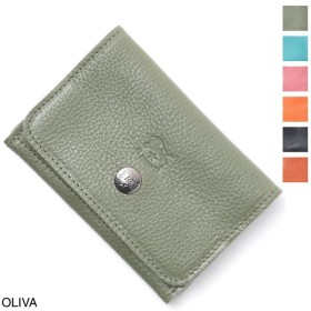 イルビゾンテ IL BISONTE カードケース 名刺入れ メンズ レディース c0470-b-ep-955-oliva