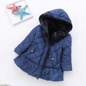 子供服コート 女の子 中綿ジャケット キルティング 裏ボア 防寒 ジャケット アウター ファーコート キッズ 冬服 綿入れコート