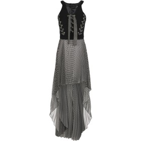 《送料無料》ELISABETTA FRANCHI レディース ロングワンピース&ドレス ブラック 40 ナイロン 84% / ポリウレタン 16% / ポリエステル