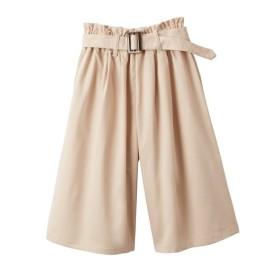 ツイルウエストフリルスカーチョ(ベルト付)(女の子 子供服。ジュニア服) パンツ