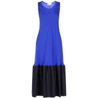 《期間限定セール開催中!》MAISON MARGIELA レディース 7分丈ワンピース・ドレス ブルー 42 100% シルク ウール
