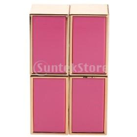 2ピーススクエア空の口紅チューブリップクリームチューブコンテナabs女の子ピンク