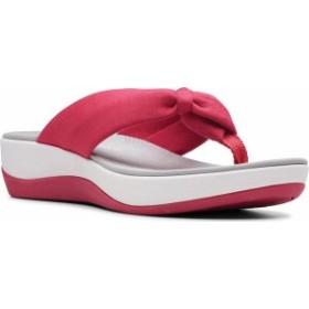 クラークス レディース サンダル シューズ Arla Glison Thong Sandal Bright Rose Solid Textile