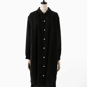 <akisaka/アキサカ> the design of sleep pajamas collection 【予約販売3月下旬お届け】pajamas long shirt (Aa-O003) クロ 【三越・伊勢丹/公式】