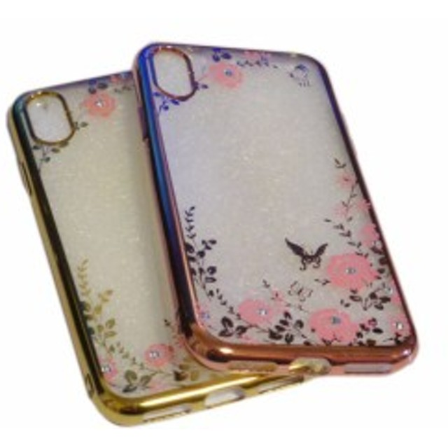 a0fe0131d0 iPhone X iPhone XS iPhone XS Max iPhone XR ジャケット 花柄 フラワー ラインストーン 光沢