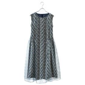 LUMINOSO COMMECA / ルミノーゾ・コムサ フラワー刺繍プリントドレス