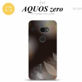 AQUOS zero アクオス ゼロ 801SH スマホケース ソフトケース ぼかし模様 黒 イニシャル nk-801sh-tp1595i