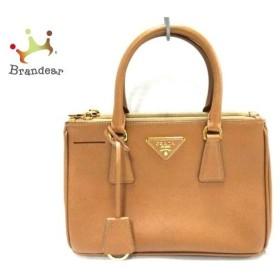 プラダ PRADA ハンドバッグ 美品 - BN2316 ブラウン サフィアーノリュクス(レザー)  値下げ 20190225