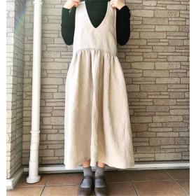 リネン*ふんわりジャンパースカート*