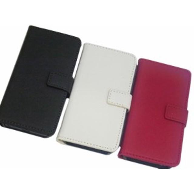 0479addd4f iPhone SE 5S 5 手帳型 スタンド シンプル 無地 フェイクレザー 合成皮革 ケース カバー
