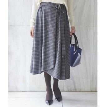 GEORGES RECH / ジョルジュ・レッシュ 【洗える】タッタソールチェックフレアスカート