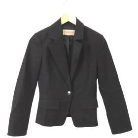 プロポーション ボディドレッシング PROPORTION BODY DRESSING ジャケット テーラード 総裏地 シングル コットン 2 黒 ブラック /MS レディース【中古】